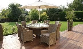 round rattan garden furniture antilles 180cm round table u0026 8 chair set natural rattan including