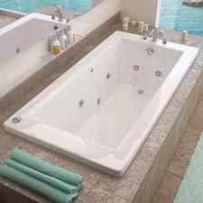 ... Bathtubs Idea, Jacuzzi Tubs For Sale Jacuzzi Bathtubs Grey Rectangular  Surrounding Tile Drop In Whirpool ...