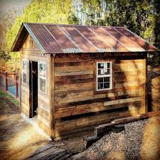 custom reclaimed wood shed rustic