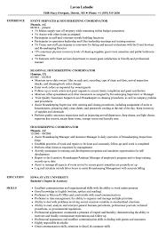 Resume Housekeeping Housekeeping Coordinator Resume Samples Velvet Jobs 8