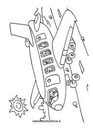 Kleurplaat Vliegveld Vliegtuig Vervoer