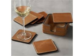 beckett leather coasters