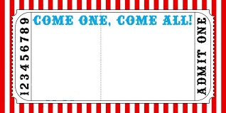 Admit One Ticket Template Free Inspiration Circus Ticket Template Free Rjengineeringnet