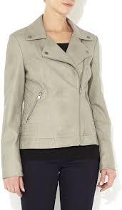 leather biker jackets wallis grey pu biker jacket
