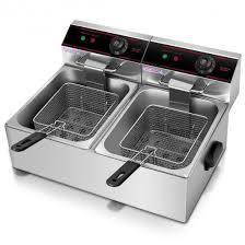 5000w dual tank electric countertop deep fryer deep fryers kitchen appliances kitchen dining home garden