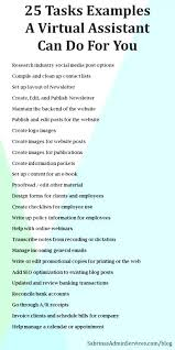 Virtual Assistant Job Description Resume Best Of Executive Assistant Templates Virtual Assistant Resume Virtual