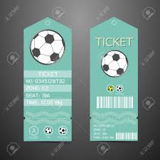 free ticket design template ticket design template concept of football royalty free cliparts