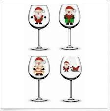 <b>Christmas Santa</b> Wine <b>Glass</b>/ Bauble/ Mug <b>Printed</b> Vinyl Stickers N65