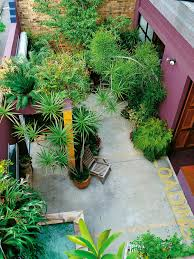 Patio Cast Concrete Paving Focuses The Eye Garden Design For Small Spaces  Hgtv