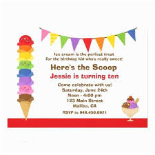 Birthday Party Evites Ice Cream Party Invitations Ice Cream Birthday Party Evites
