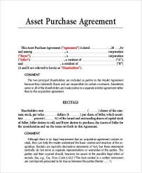 purchase agreement sample sample asset purchase agreement 9 free documents in word pdf