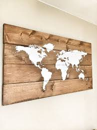 rustic wood world map rustic decor farmhouse decor rustic nursery decor wall decor wooden white world map 26 x 14 white gold room pinterest  on reclaimed wood world map wall art with rustic wood world map rustic decor farmhouse decor rustic nursery