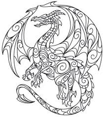 Free dragon coloring page for kids and grown ups. Doodle Dragon Dragon Coloring Page Coloring Pages Quilling Patterns
