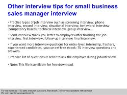 10 small business manager job description