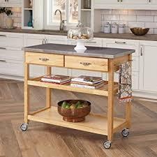 kitchen island cart. Large Kitchen Island Cart Wheels Rolling Roller Workstation Butcher Block Basic Appliance Utility Oak E