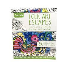 Crayola Folk Art Escapes Coloring Book Each From Cvs