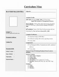 Sample Cv Resume Format Fresh Federal Resume Builder Pdf Free Resume
