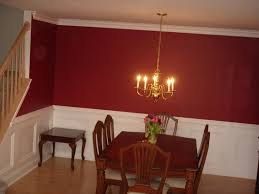 Dining Room Paint Ideas With Chair Rail Home Decor Interior And - Dining room red paint ideas