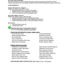 Administrative Assistant Resume Objective Examples Sample Inside