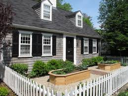 vinyl picket fence front yard. White Wooden Low Picket Fence With Pointed Top Design Completed By Panels On Front Yard Vinyl S