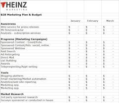 Marketing Budget Plan A Marketing Plan And Budget Template For You Heinz Marketing