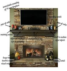 fireplace mantel with tv above new tv design ideas within 8