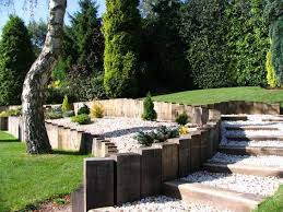 vertical timber retaining wall how to