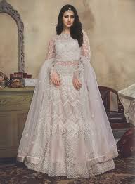 Wedding Designer Off White Colour Wedding Designer Net Lehenga Choli