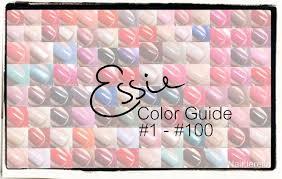 Essie Color Chart Essie Color Guide 1 100 Nailderella