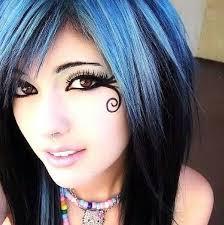 leda monster bunny septum piercing erfly makeup beautiful makeup brown eyes kandi blue and black scene hair