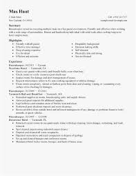 Hospital Housekeeping Resume Examples Download Resume For