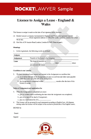 Licence To Assign Free Assignment Of Lease Template Lease Assignment