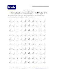 5 Minute Math Drill Worksheet Fun And Printable