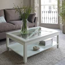 rectangle modern white wood and glass coffee table top design ideas to fill latest trend of