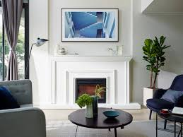 here s when you can samsung s artsy the frame television how to mount a tv above a fireplace brick how to mount a tv above a fireplace and hide wires