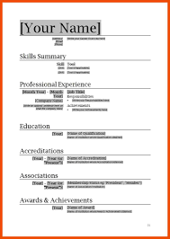 9 10 Basic Resume Template Microsoft Word Formatmemo