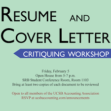 Resume Workshop Wonderful Workshop Resume And Cover Letter Critiquing UNDERGRADUATE