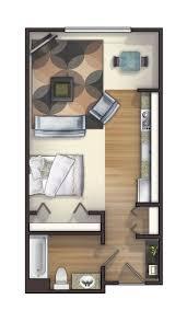 Best  Studio Apartment Floor Plans Ideas On Pinterest - Tiny studio apartment layout