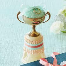 diy wedding ideas ring bearer trophy