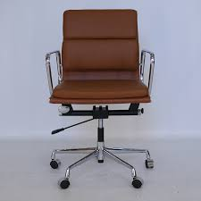 eames style office chairs.  Office Eames Style EA217 Office Chair Chocolate Brown Aniline Leather To Chairs