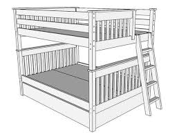 queen bunk bed with trundle.  With Drawing 1  Right View Of Bunk Bed B93 With Queen Trundle B
