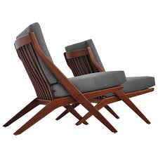 folke ohlsson furniture chairs sofas tables more 60 for pair of teak scissor lounge by dux