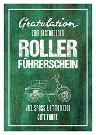 Zum Rollerführerschein Glückwünsche Echte Postkarten Online
