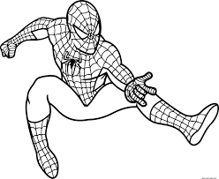Small Picture Spiderman coloring pages online free printable