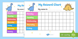 Free Dinosaur Reward Chart Primary Resources