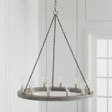 image of rustic wood chandelier