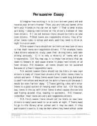 Format For Persuasive Essay Writing Persuasive Essay Examples RESUME 9