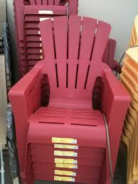 kids plastic adirondack chair red