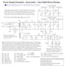 groovewatt a diy vacuum tube valve riaa phono preamplifier project power supply schematic groovewatt tube valve riaa phono preamp