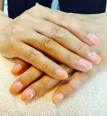 オレンジグラデーションネイル Total Beauty Salon Byu